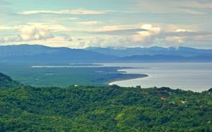 Ojochal and talamanca mountains looking at the Osa Peninsula