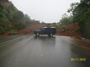 road problems Costa Bellena