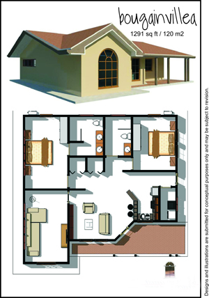 120 square foot model home