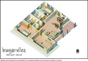120 square meter model home