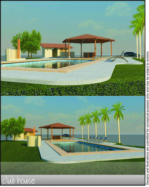 Club House and Pool Area