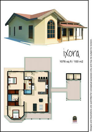 100 square meter model home