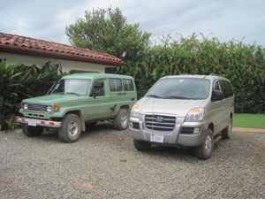 Costa Rica Homes Tour Vehicles