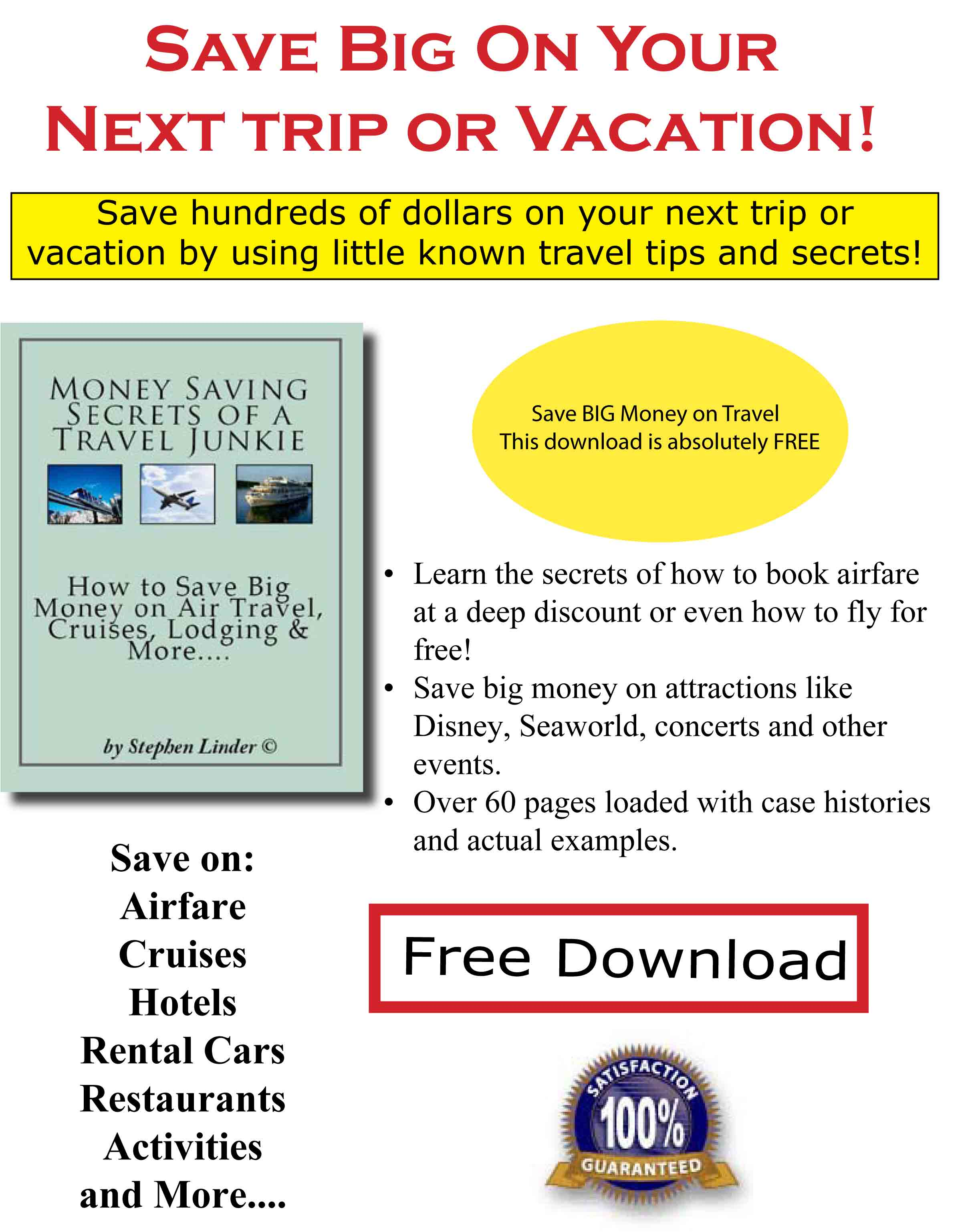 Free Travel, Discount Travel Tips