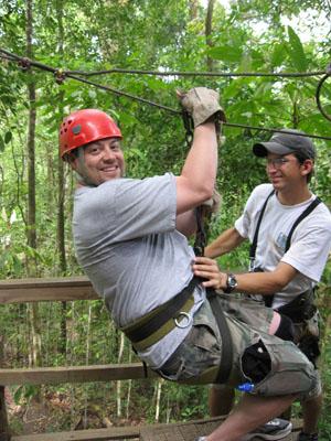 Zip line through the jungle, enjoy the outdoors, live longer