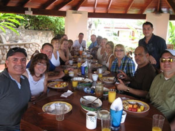 Another great meal during one of our property tours for north Americans living in Costa Rica