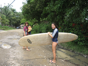 Surfing is the game in Dominical