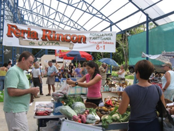 This is the Saturday Farmers market in Uvita