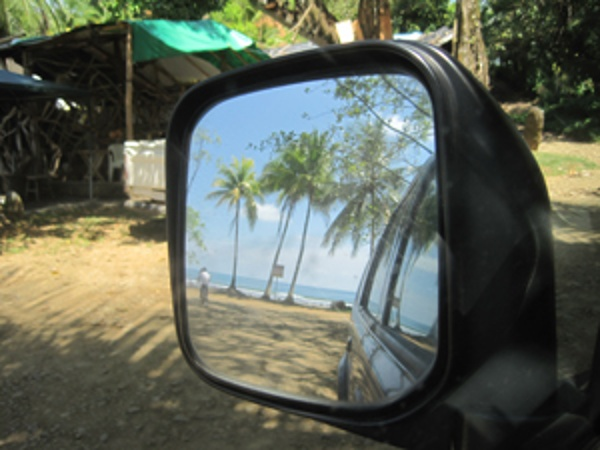 I noticed this view in my rear view mirror